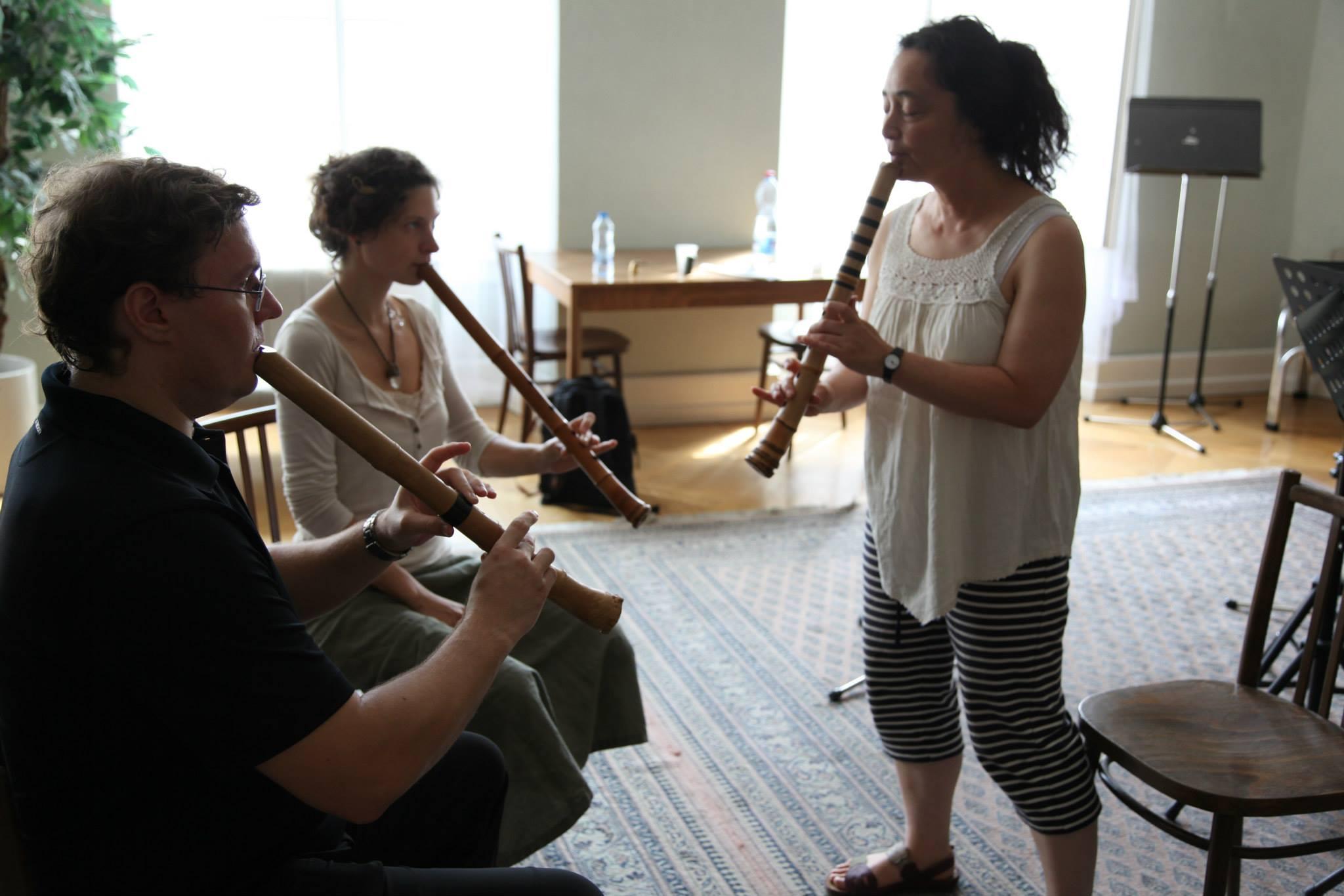 Kiku Day teaching absolute beginners at ISFP 2013